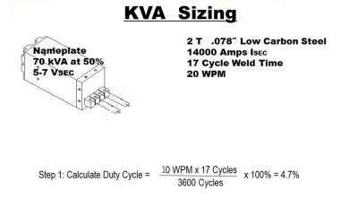 How do you size a resistance welding transformer? - How-To